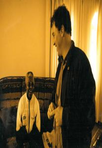Nelson Mandela with Adrian Hadland