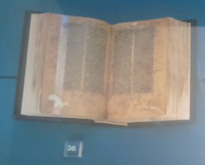Marco Polo's Travel Bible at 'The Shape of the Book: From the Scroll to the Codex', an exhibition at Biblioteca Medicea Laurenziana, Florence