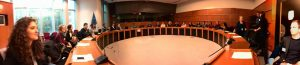 Brussels Uncovered: a private briefing for Stirling students in a European Parliament committee room